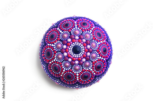 Beautiful mandala rock Canvas Print