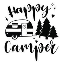 Happy Camper Vector Download. ...