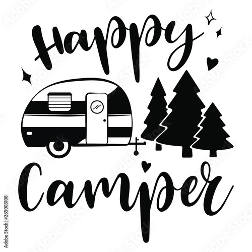 Obraz na plátně Happy Camper vector download