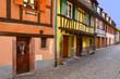 Alignement de maisons colorées à Kaysersberg, Alsace, Grand-Est (France)