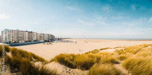 Beach of Zeebrugge, Flanders region, Belgium
