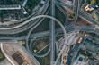 Aerial view of the Southern bridge (Dienvidu tilts) in Riga, Latvia.