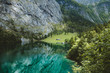 Leinwandbild Motiv Scenic Lake Obersee in summer, Bavaria, Germany