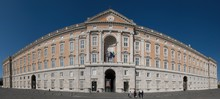 Facade Of Borbonic Royal Palace In Caserta.