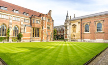 Old Court Of Pembroke College In The University Of Cambridge, England. It Is The Third-oldest College Of The University And Has Over 700 Students And Fellows