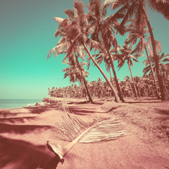 Panel Szklany Romantyczny Beautiful sunny day at tropical beach