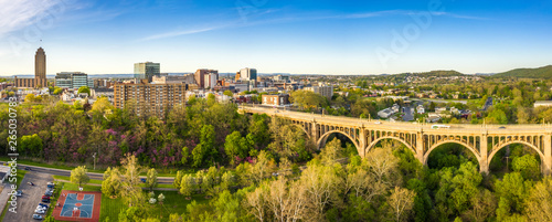 Slika na platnu Aerial panorama of Allentown, Pennsylvania skyline and Albertus L