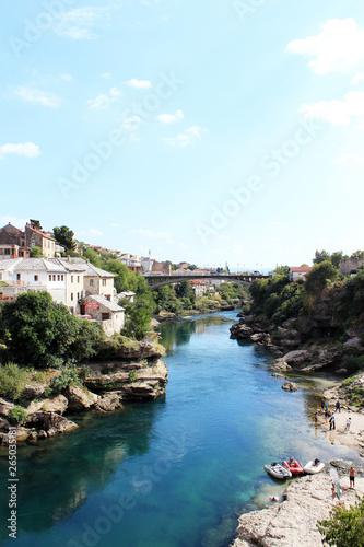 Foto op Canvas Vestingwerk ボスニア・ヘルツェゴビナ ネレトヴァ川