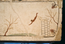 The Tomb Of The Diver In The Archaeological Site Of Paestum, Italy