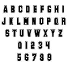 Sport Alphabet Letters And Num...