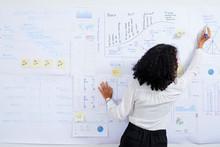 Woman Drawing Diagram On Whiteboard