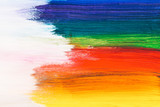 Fototapeta Rainbow - Colorful brush strokes