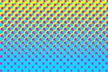 Dotted, Pop Art Background, Pop Art Pattern. Symbolic Background