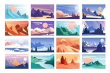 Mountain Landscape Set, Scenes...