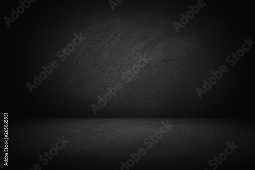 Fototapeta dark texture chalk board room and studio wall background obraz