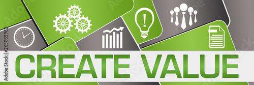 Fotografie, Obraz  Create Value Green Grey Rounded Squares Texture Symbols