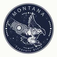 Montana. Tattoo And T-shirt De...