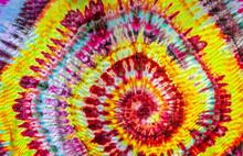 Backlit Tye Dye Swirl Spiral Hippie 60s  Pattern