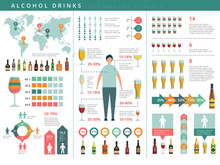 Drink Infographic. Glass And A...