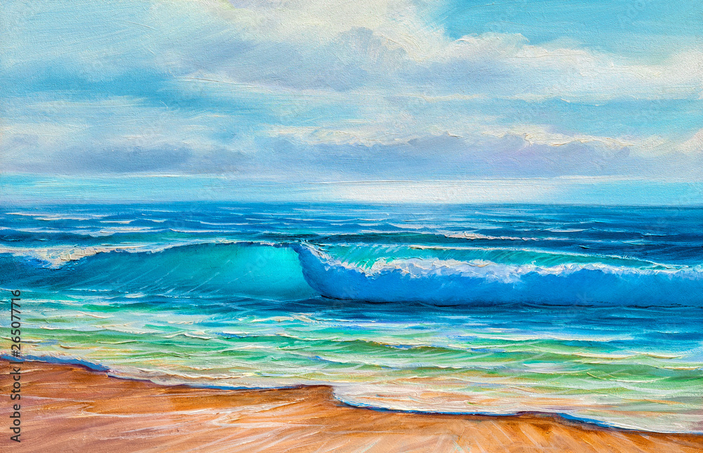 Fototapeta painting seascape