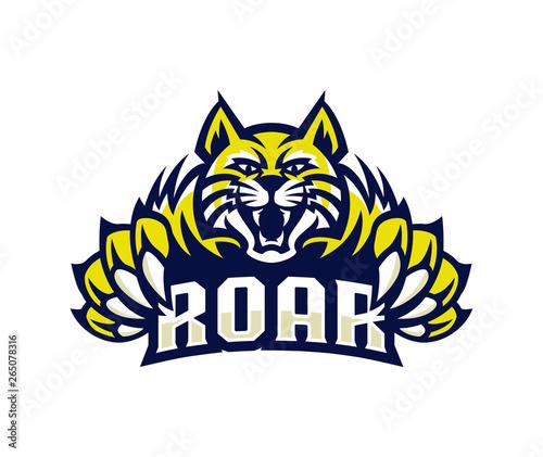Vászonkép  lynx wildcat logo esport mascot illustration