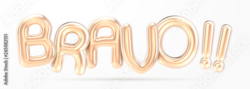 Fotografía BRAVO golden foil balloon
