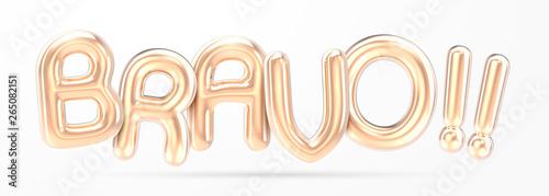 Cuadros en Lienzo BRAVO golden foil balloon