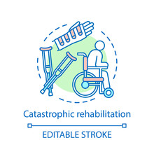Catastrophic Rehabilitation Concept Icon