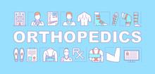 Orthopedics Word Concepts Banner