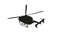 Flying Helicopter Isolated Icon Vector