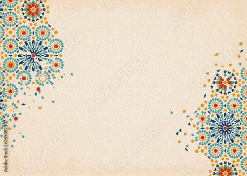 Colorful arabesque pattern Canvas Print