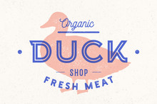 Duck Meat. Poster For Butchery...