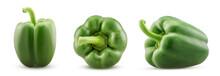 Set Green Bell Pepper