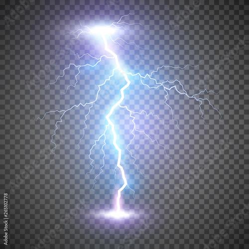 Foto Lightning flash bolt or thunderbolt