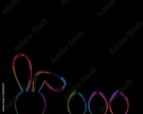 Fototapeta Abstract light Easter eggs on  background obraz na płótnie