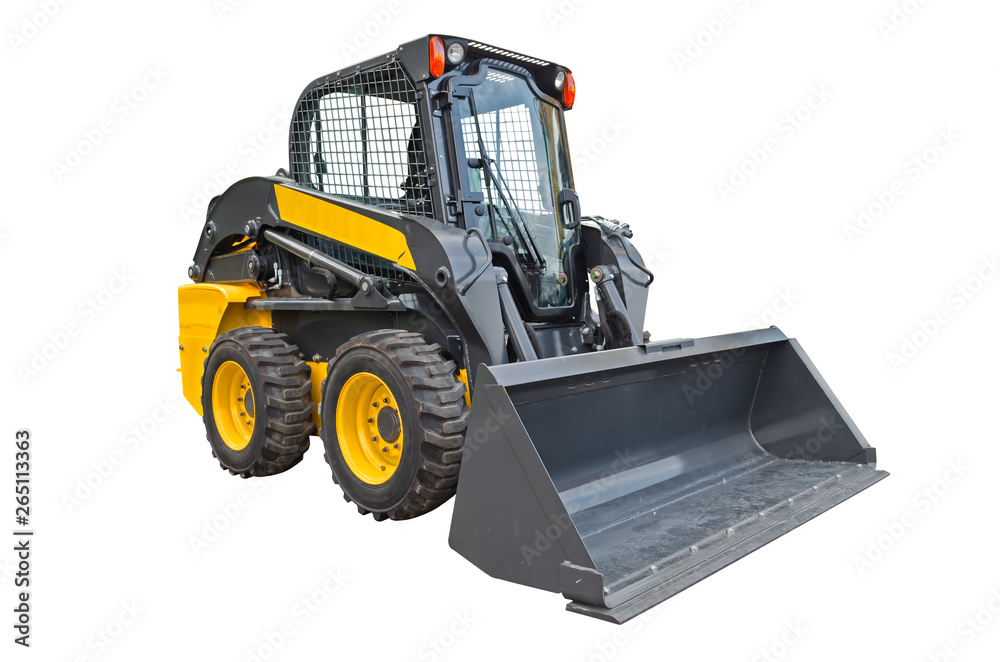Skid steer loader isolated on a white background <span>plik: #265113363 | autor: stefan1179</span>