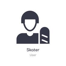 Skater Icon. Isolated Skater I...