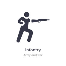 Infantry Icon. Isolated Infant...
