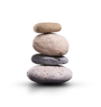 A Pile Of Stones Isolated On A White Background