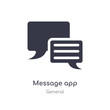 message app icon. isolated message app icon vector illustration from general collection. editable sing symbol can be use for web site and mobile app