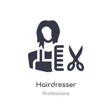 Hairdresser Icon. Isolated Hai...