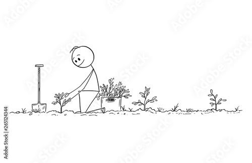 Cartoon Stick Figure Drawing Conceptual Illustration Of Man