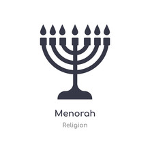 Menorah Icon. Isolated Menorah Icon Vector Illustration From Religion Collection. Editable Sing Symbol Can Be Use For Web Site And Mobile App
