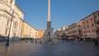 hyper lapse. Piazza Navona, Rome. Italy