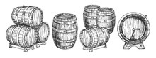 Wooden Beer Wine Cask Or Barre...