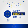 Europe Day Vector Design Template Celebration
