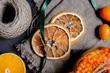 Sea buckthorn tea with ginger, berries and cinnamon