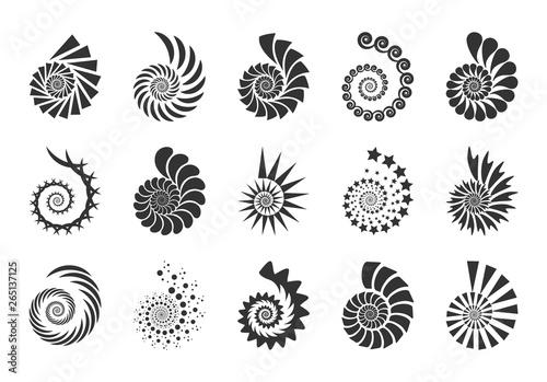 Canvas-taulu Spiral vector design elements