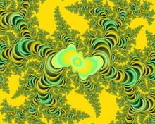 Abstract Yellow Green Floral Abstract Texture