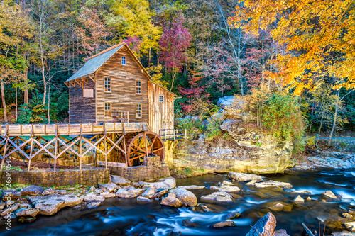 Babcock State Park, West Virginia, USA at Glade Creek Grist Mill Wallpaper Mural